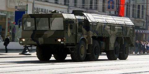 Iskander missile on a MZKT-7930 / Wikimedia