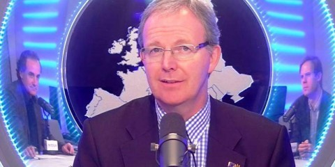 Axel Voss during the interview with the Euranet Plus News Agency