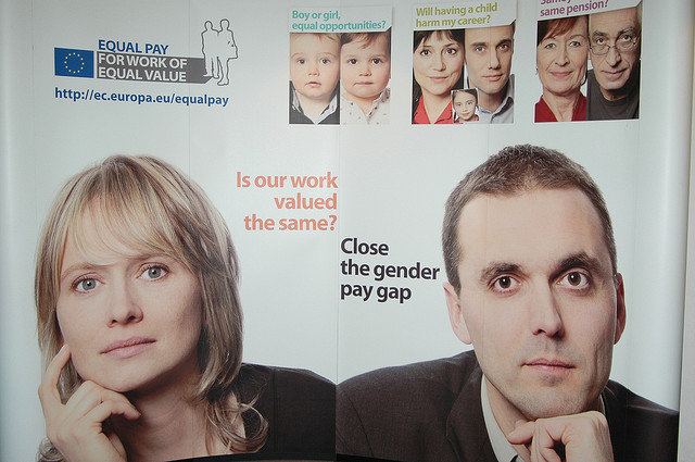 Closing the gender gap poster / Flickr / socialeurope