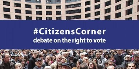 Citizens' Corner debate on the right to vote