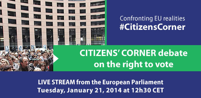 Citizens' Corner debate on the right to vote – Euranet Plus