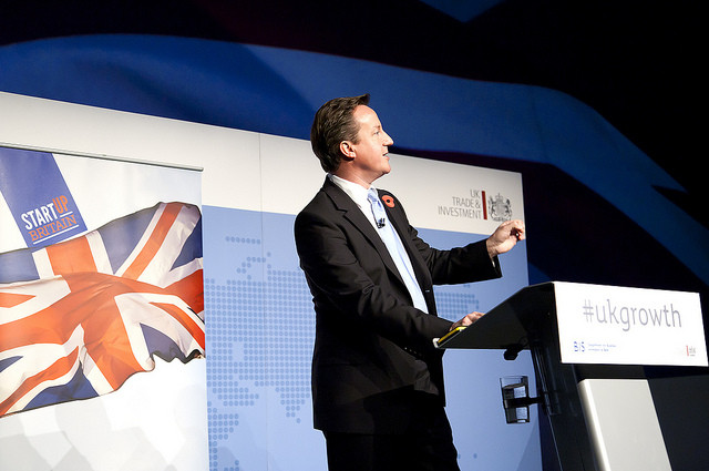 David Cameron, British Prime Minister at the Export for Growth conference in London 2011 / Flickr / bisgovuk