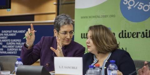 Ulrike Lunacek debating gender equality at the European Parliament / European Union 2014 EP
