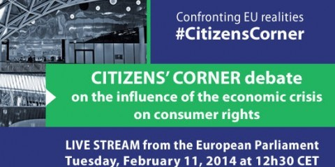 Citizens' Corner debate on the influence of the crisis on consumer rights
