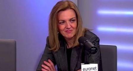 """MEP Maria Eleni Koppa during the """"U talking to me"""" debate with MEP Arnaud Danjean / Euranet Plus News Agency"""