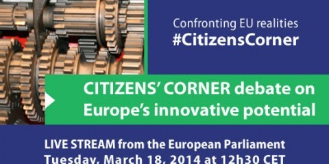 Citizens' Corner debate about Europe'S innovative potential - teaser poster