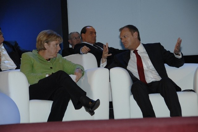 dec5faf0ba0 Merkel an Tusk discussing at the EPP Congress in Warsaw 2009   Flickr    European People s