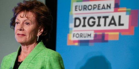 """Neelie Kroes, Vice-President of the EC in charge of Digital Agenda, at Brussels Launch of the """"Startup Europe"""" Partnership and of the think thank """"European Digital Forum"""" (EDF), May 22, 2014 / ec.europa.eu"""