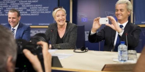 Press conference with Vilimsky (AT), Le Pen (FR), Wilders (NL) on May 28 / European Union 2014 - Source EP