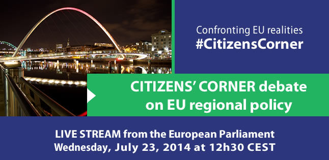 Citizens' Corner on EU regional policy