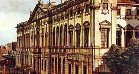 Krasiński Palace, 1770 - painting by Bernardo Bellotto / Wikimedia