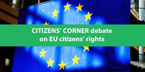 Citizens' Corner debate on EU citizens' rights in Hungarian and English on November 5, 2014