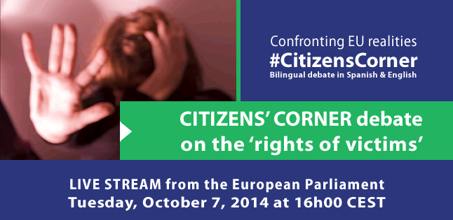 #CitizensCorner debate on rights of victims Photo - Clear legal basis needed to combat violence against women / European Parliament / CC BY-NC-ND 2.0