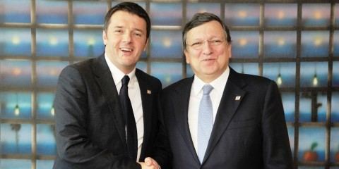 José Manuel Barroso, President of the European Commission, received Matteo Renzi, Italian Prime Minister, on March 20, 2014 / ec.europa.eu