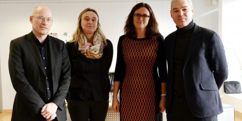 Visit of representatives of European Citizens' Initiative STOP TTIP to the Cecilia Malmström, member of the EU Commission in charge of trade on February 2, 2015 / ec.europa.eu