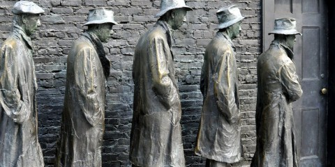 The causes of the great depression / FDR Memorial / Flickr / Tony Fischer / CC BY 2.0