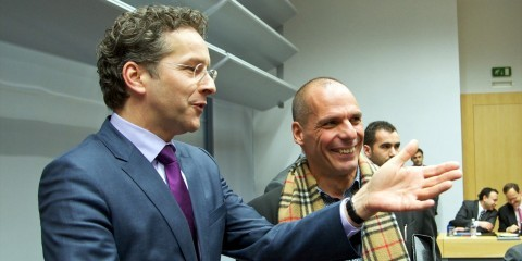 Extraordinary Eurogroup meeting with Jeroen Dijsselbloem, Dutch Minister for Finance, and Yanis Varoufakis, Greek Minister for Finance in Brussels on February 11, 2015 / tvnewsroom.consilium.europa.eu/