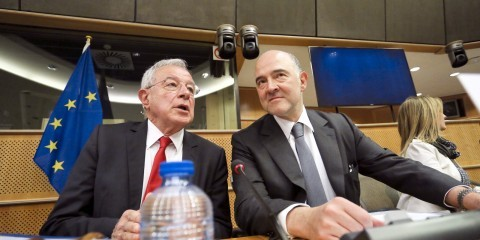 TAXE-ECON joint Committee Meeting with Pierre Moscovici (right), European Commissioner in charge of Economic and Financial Affairs, Taxation and Customs on March 30, 2015 / ec.europa.eu