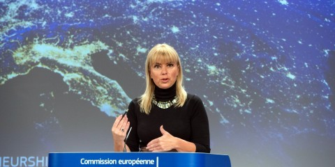 Press conference on March 31, 2015, by Elżbieta Bieńkowska, Member of the European Commission in charge of Internal Market, Industry, Entrepreneurship and SMEs, on the successful launch of two Galileo satellites / ec.europa.eu