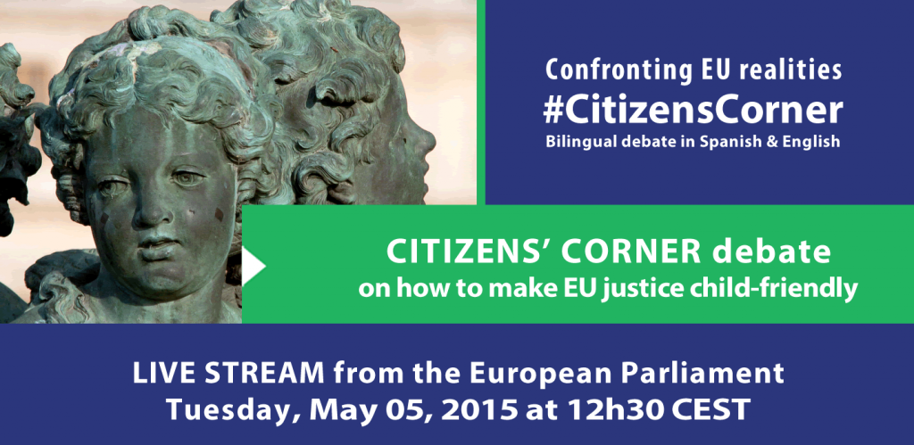 Citizens' Corner debate on how to make EU justice child-friendly