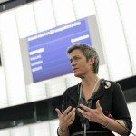 Margrethe Vestager at plenary session week 11 2015 in Strasbourg / http://audiovisual.europarl.europa.eu/ EP-017265