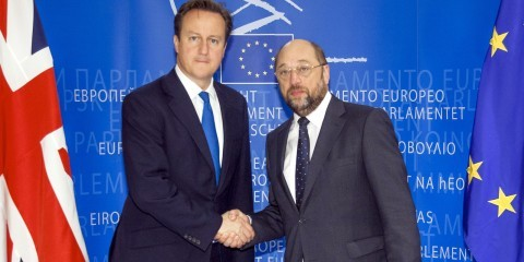 Martin Schulz and David Cameron meeting in Brussels / European Union 2012 - EP