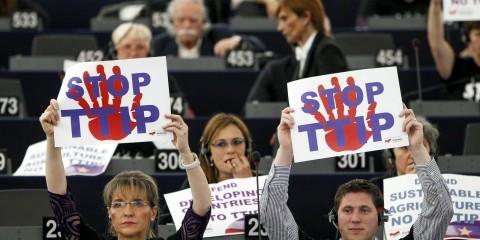 Plenary session week 24 2015 in Strasbourg: Negotiations on the Transatlantic Trade Investment Partnership (TTIP) / European Union 2015 - source:EP