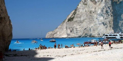 Navaghio Beach in the Ionian Islands of Greece / Flickr / Paolo Rosa / CC BY-NC-ND 2.0