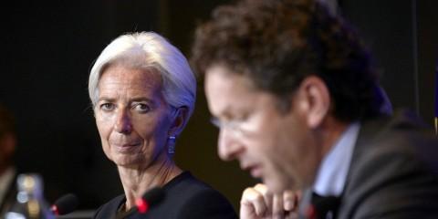 Eurogroup meeting in July 2015 with Jeroen Dijsselbloem, president of the Eurogroup, and Christine Lagarde, IMF Managing Director / tvnewsroom.consilium.europa.eu/