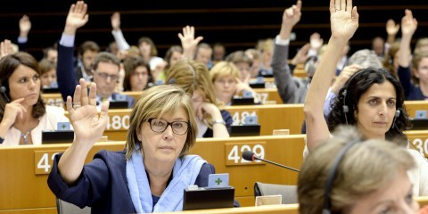 Mercedes Bresso (S&D,IT) at plenary session week 26 2015 in Brussels / Copyright: © European Union 2015 - Source EP