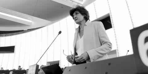 MEP Sylvie Goulard at plenary session in Strasbourg week 21 2015/ European Union 2015 - source:EP