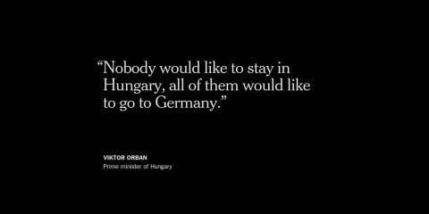 """@nytimesworld_ Hungary's premier, Viktor Orban, insisted that the migrant crisis was a """"German problem."""""""