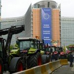 Milk farmer protests in Brussels on September 7, 2015 / www.europeanmilkboard.org