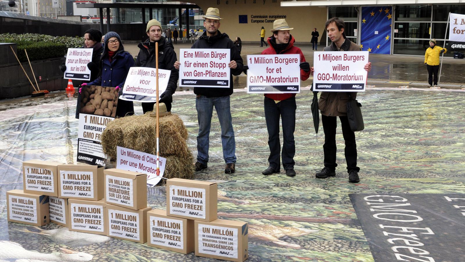 "European Citizens'Initiative petition ""One million Europeans for a GMO freeze"" in 2010 / ec.europa.eu"
