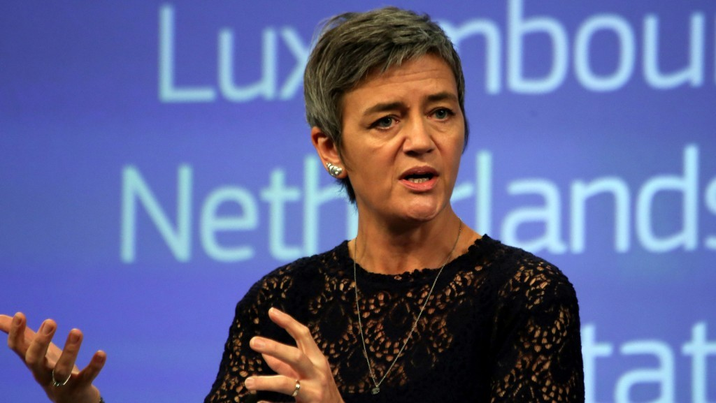 Margrethe Vestager, member of the EC in charge of Competition, at press conference on Fiat and Starbucks tax ruling on October 21, 2015 / ec.europa.eu