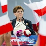 Beata Szydlo on election trial 2015 / www.polskieradio.pl/
