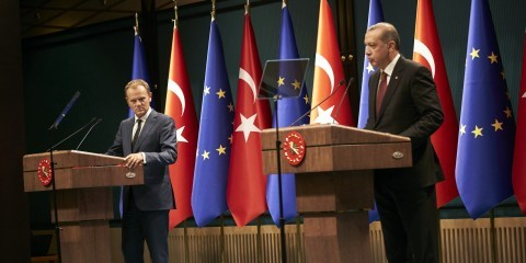 Donald Tusk at press conference in Turkey with Erdogan in September 2015 / tvnewsroom.consilium.europa.eu/