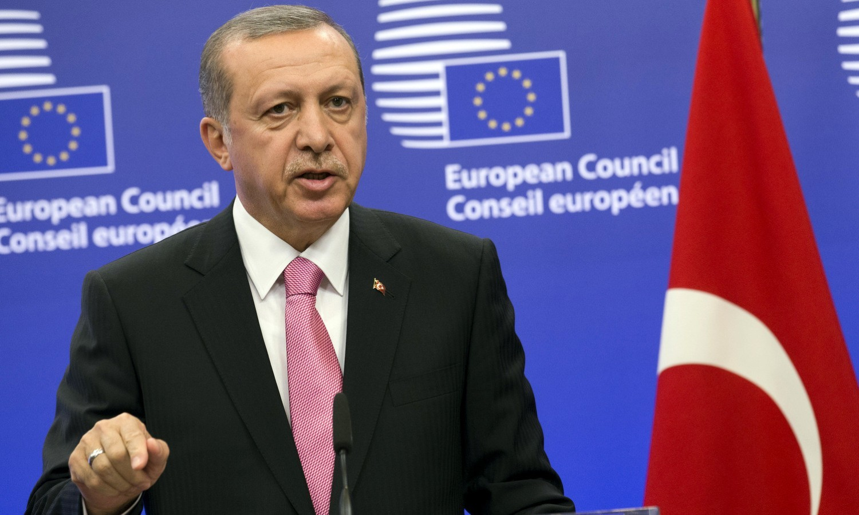 Recep Tayyip Erdoğan visiting Brussels in October 2015 / tvnewsroom.consilium.europa.eu/