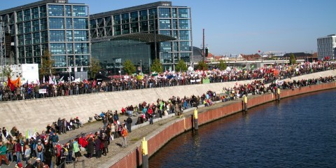 Demo against TTIP in Berlin on October 10, 2015 / Flickr / Mehr Demokratie - Edda Dietrich / CC BY-SA 2.0