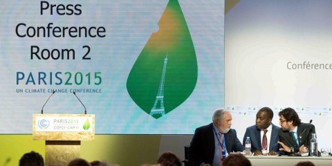Press Conference with Arias Canete during COP21 in Le Bourget on December 11, 2015 / ec.europa.eu