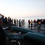 Commissioner Vytenis Andriukaitis observing arrival of new refugees on the beach of Skala Sikamineas village in Greece in November 2015 / ec.europa.eu