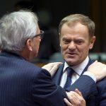 Juncker and Tusk at European Council on December 18, 2015 / tvnewsroom.consilium.europa.eu/