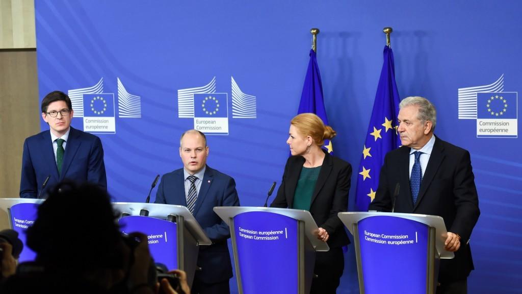 Visit of Morgan Johansson, Inger Støjberg and Ole Schröder to the European Commission on January 6, 2016 / ec.europe.eu