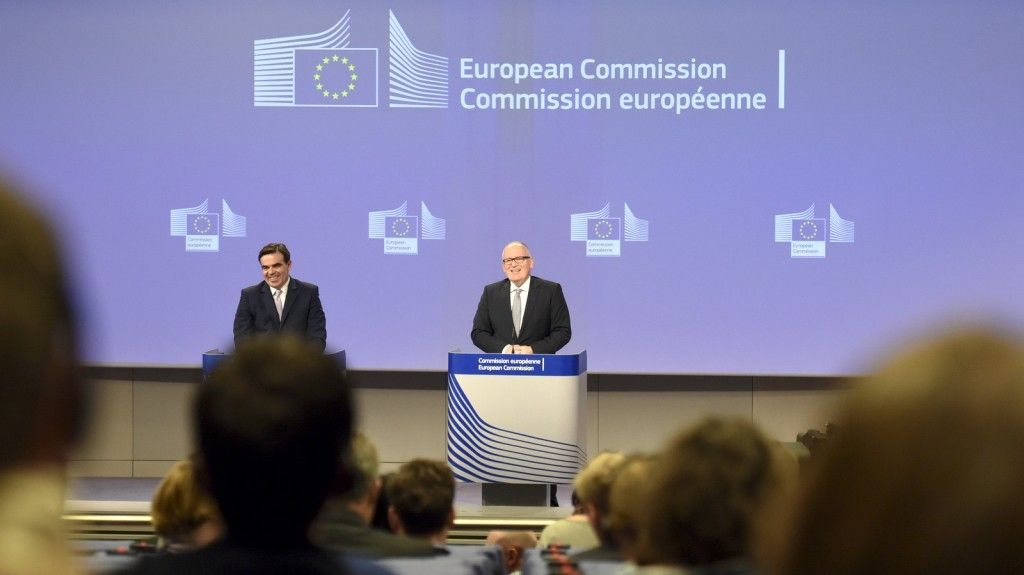 Press conference with Frans Timmermans and Margaritis Schinas on January 13, 2015 / ec.europa.eu
