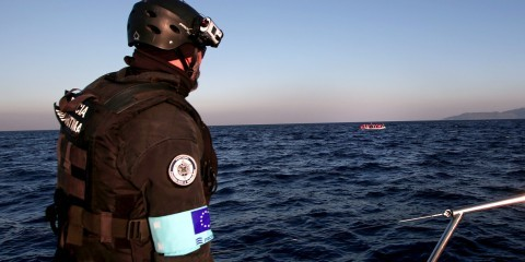 Frontex agency on patrol off Greek island of Lesbos in November 2015 / ec.europa.eu