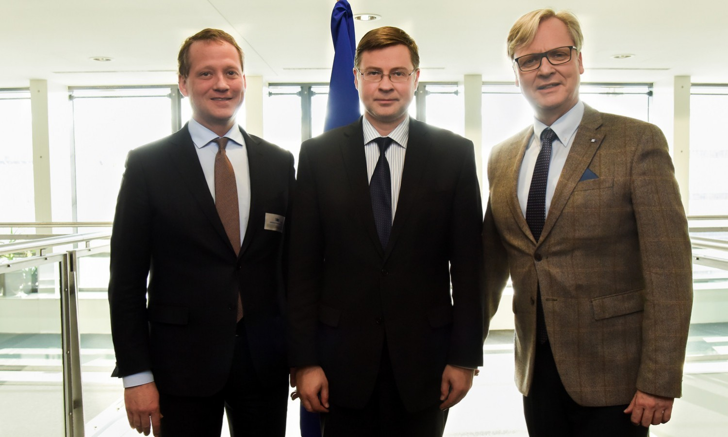 President of Association of German Chambers of Commerce and Industry (DIHK) meeting Valdis Dombrovskis on February 29, 2016 / ec.europa.eu