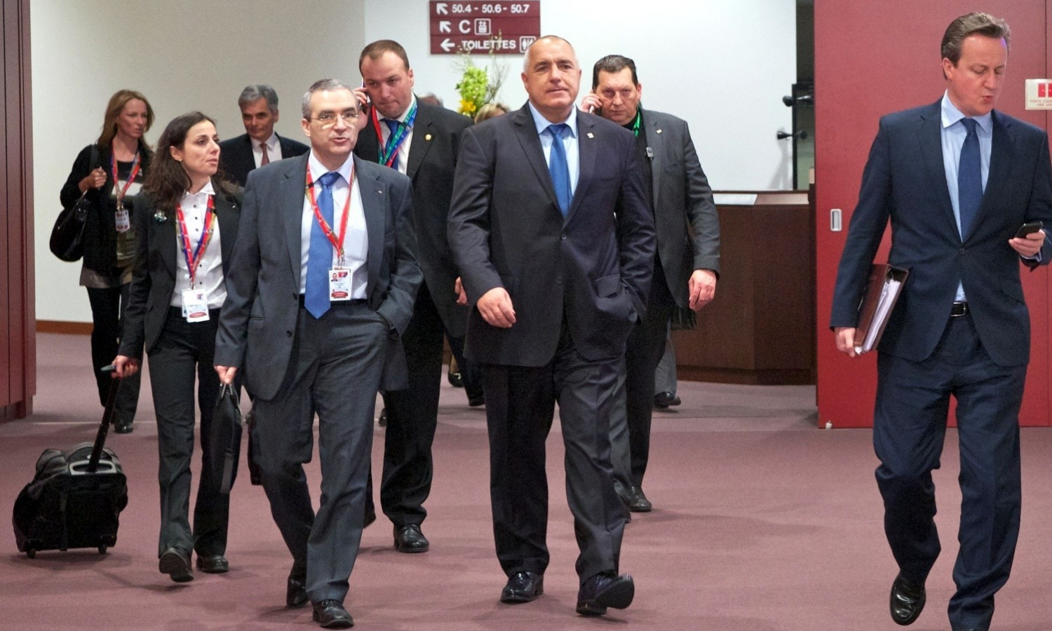 Boyko Borissov entering European Council in Brussels on March 18, 2016 / tvnewsroom.consilium.europa.eu