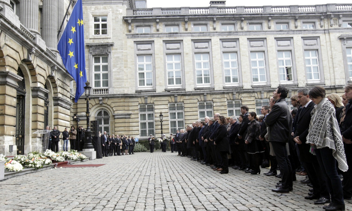 Minute of silence on March 34, 2016, held at Belgian Parliament for victims of the terror attacks / ec.europa.eu