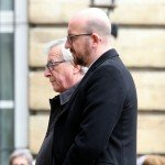 Jean-Claude Juncker and Charles Michel at minute of silence on March 34, 2016, held at Belgian Parliament for victims of the terror attacks / ec.europa.eu