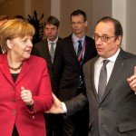 Angela Merlel and Francois Hollande at European Council in Brussels on March 17, 2016 / tvnewsroom.consilium.europa.eu